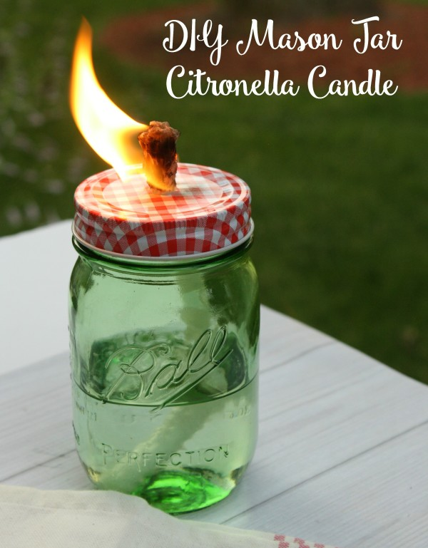 How to Make Your Own Mason Jar Citronella Candles