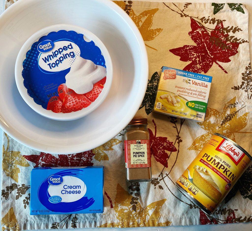 fluffy pumpkin dip ingredients