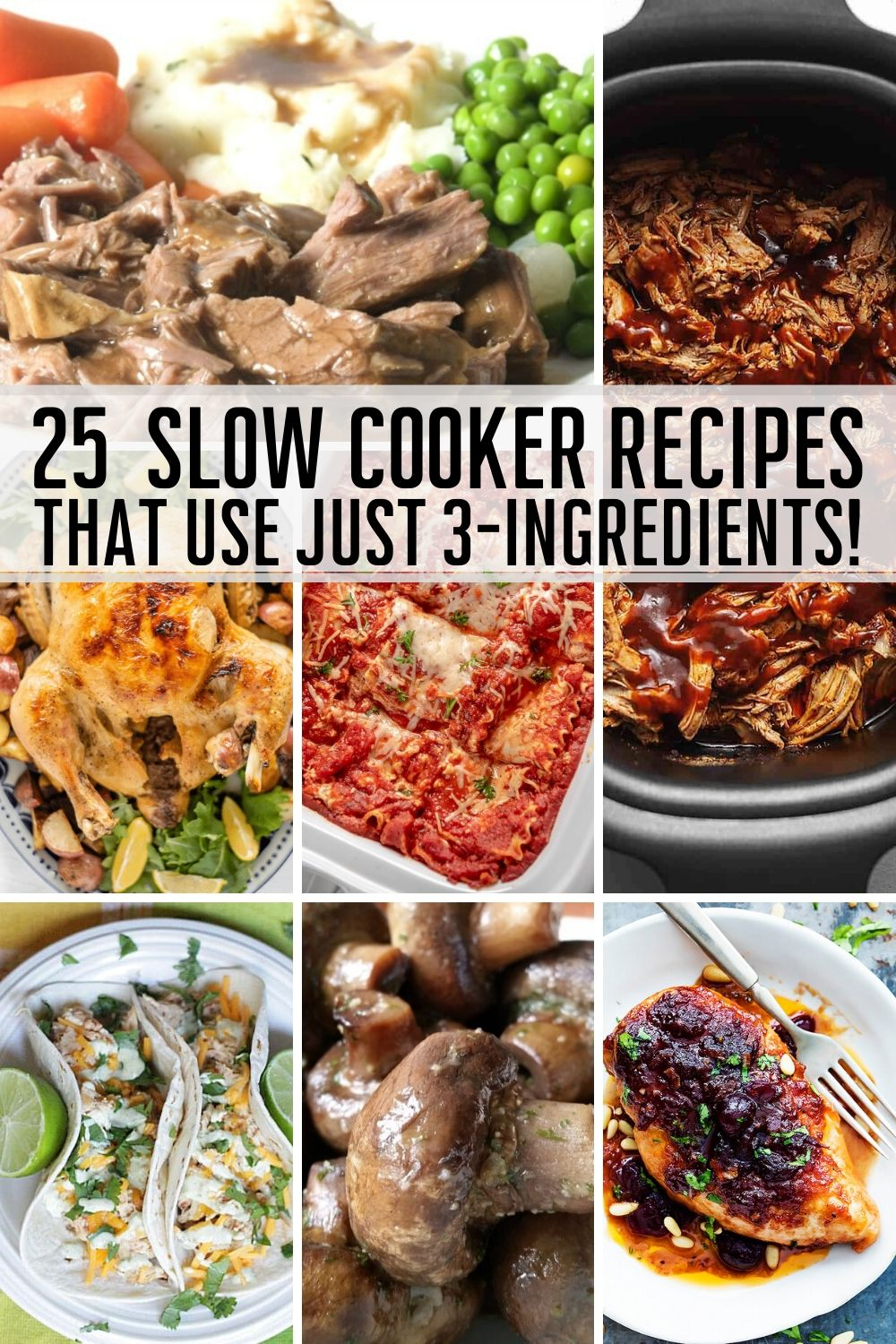3 Ingredient Slow Cooker Recipes