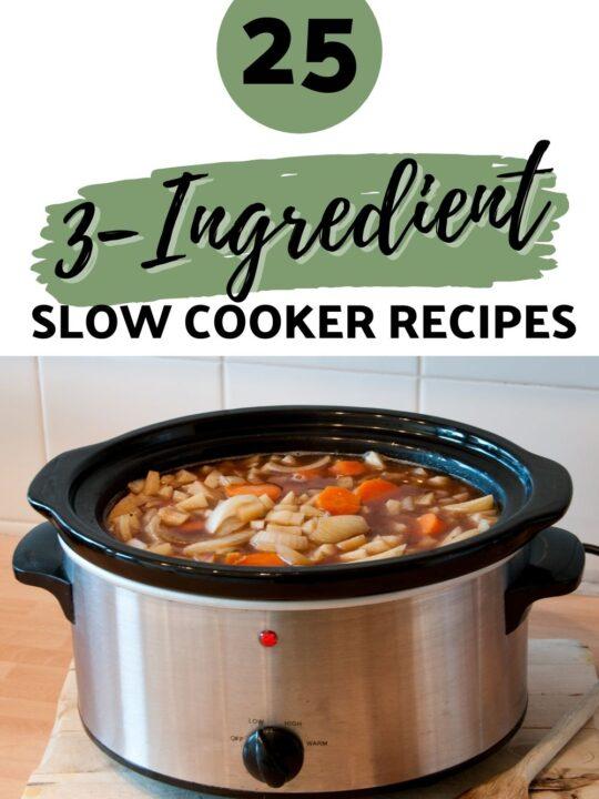 3 Ingredient Slow Cooker Recipes