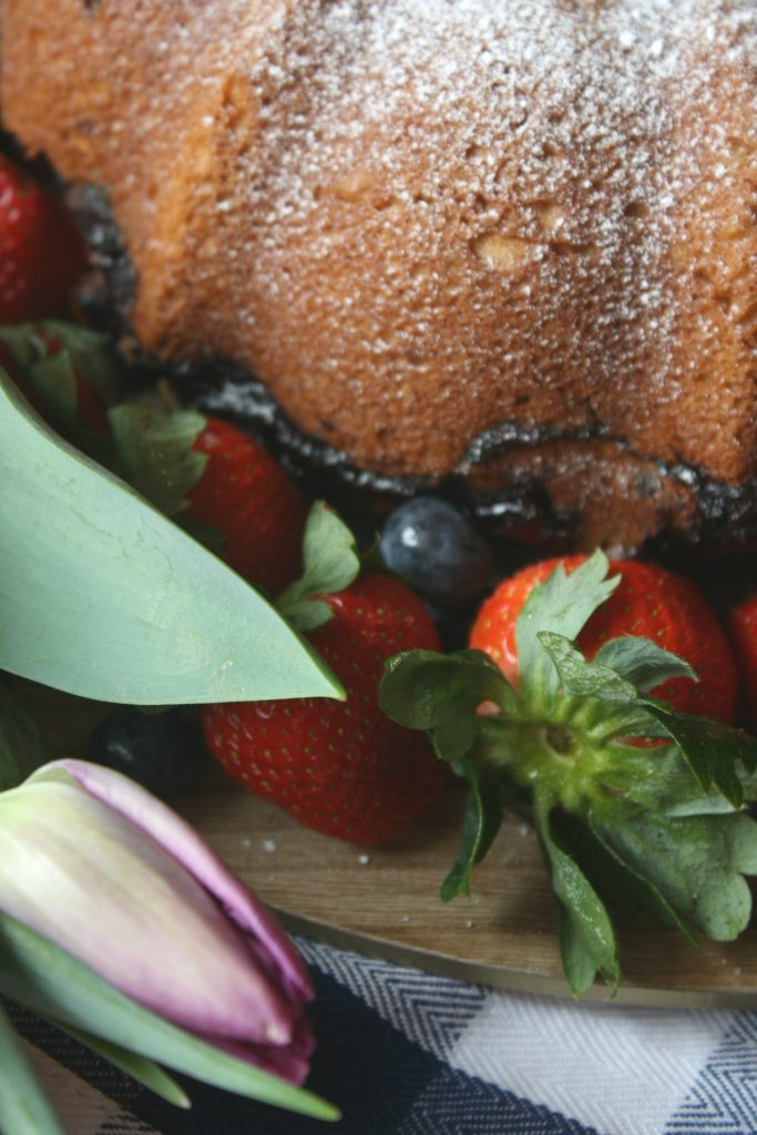 Triple Berry Pound Cake