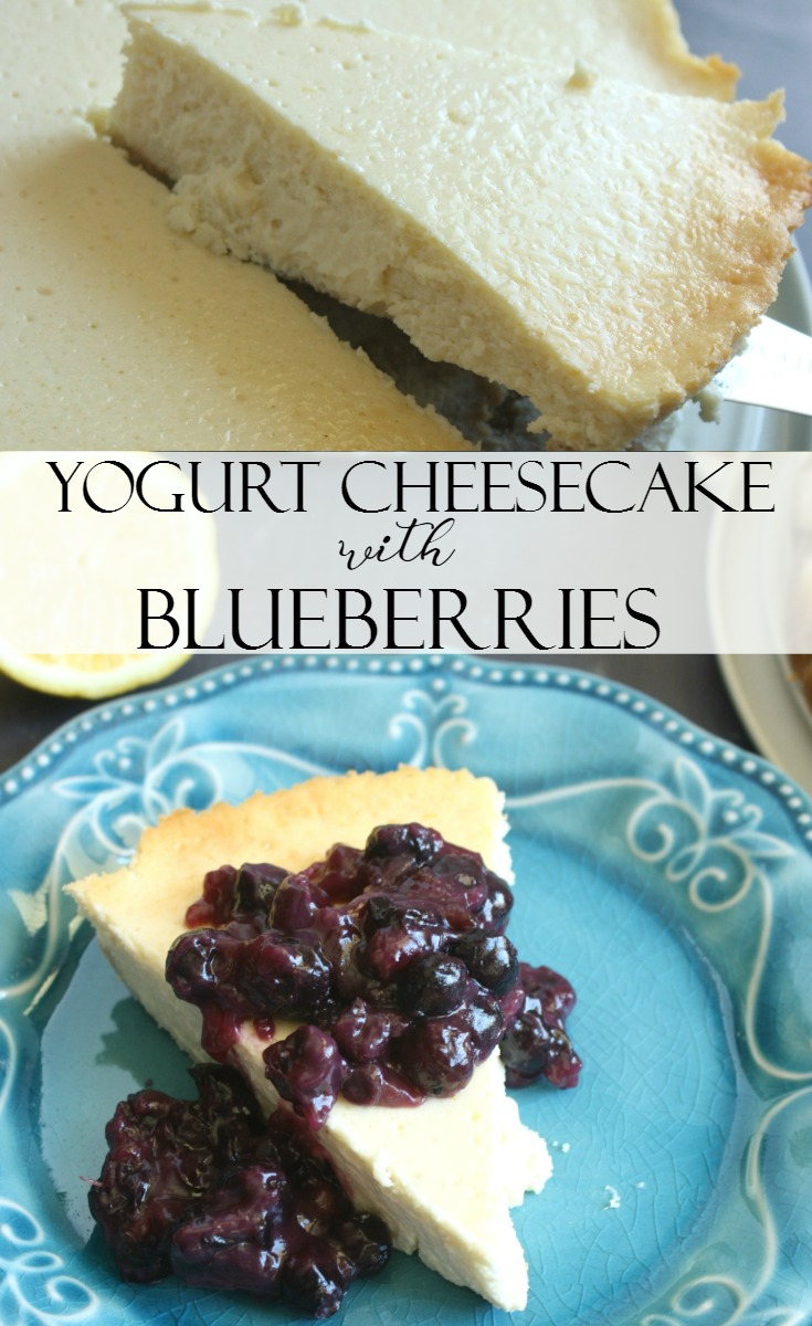 Yogurt Cheesecake with Blueberries