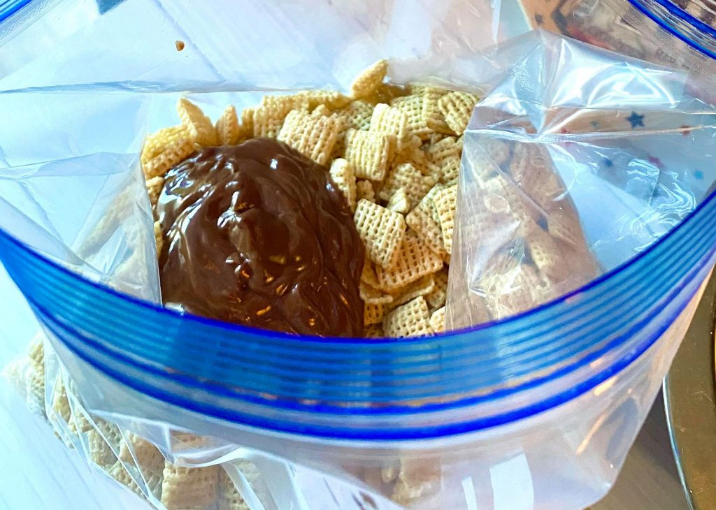chocolate on chex cereal
