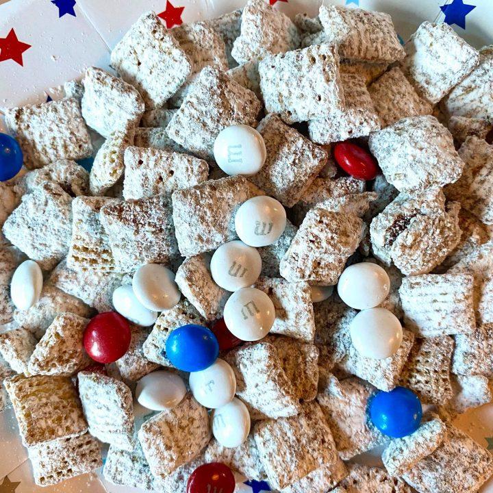 Red, White & Blue Muddy Buddies Recipe