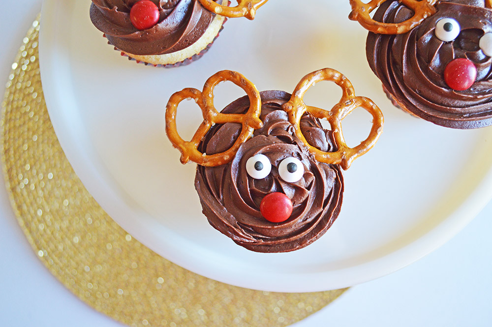 Rudolph the Red Nosed Reindeer Cupcake