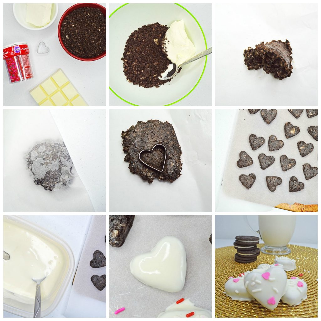 how to make Valentine's day oreo truffles