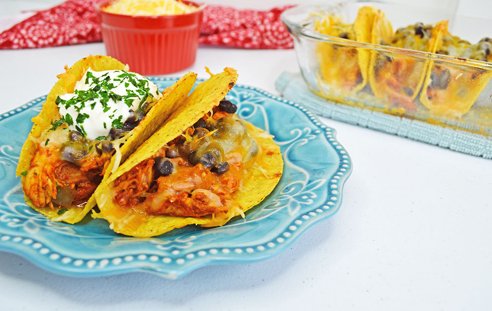 chicken and black bean tacos