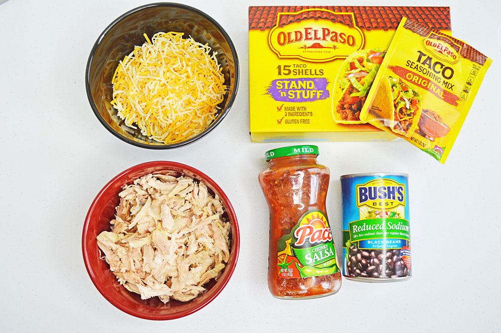 chicken and black bean tacos ingredients
