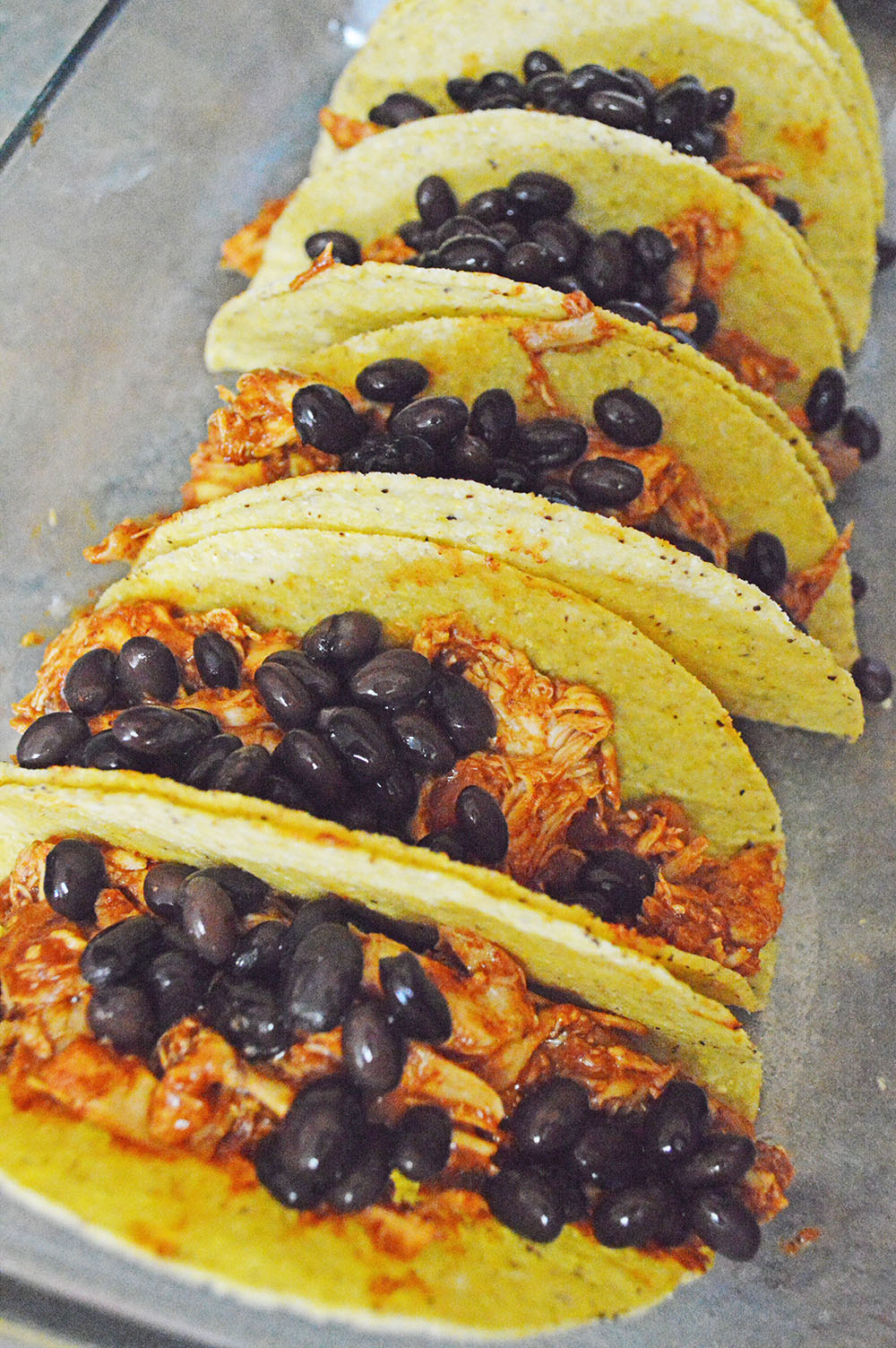 tacos with chicken and black beans