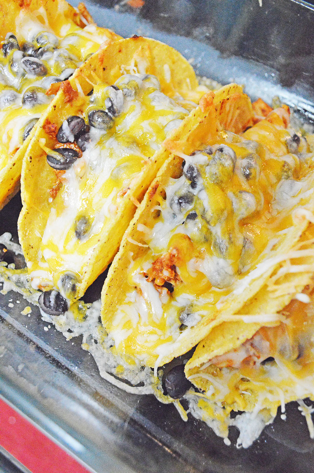 baked chicken and black bean tacos