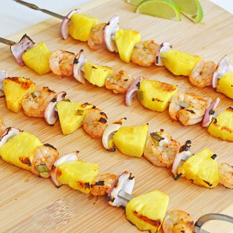 Chili Lime Shrimp & Pineapple Skewers