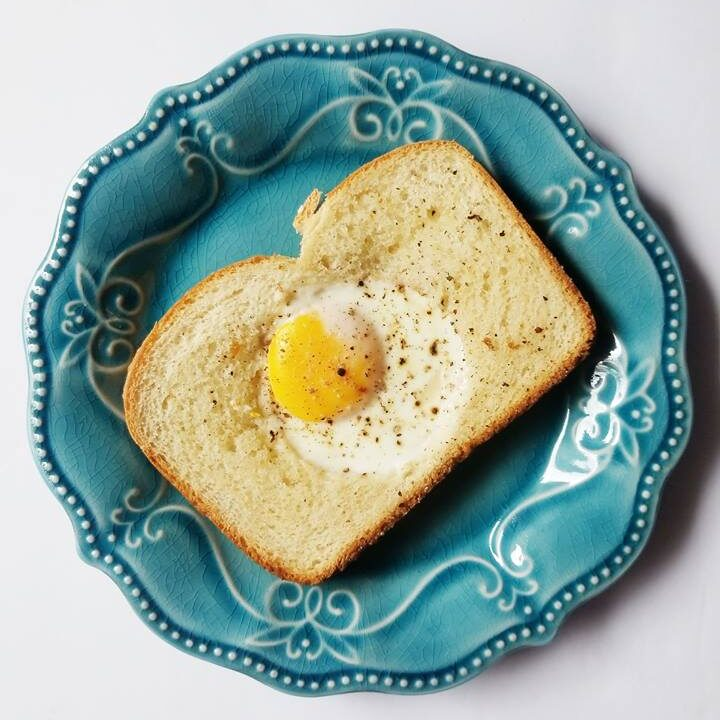 sheet pan eggs in a hole