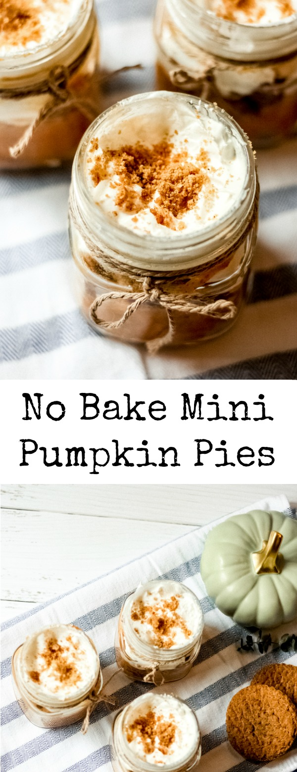 No Bake Mini Pumpkin Pies (in a jar)!