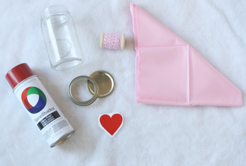 valentine's mason jars supplies