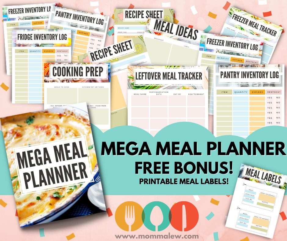 meal prep printable