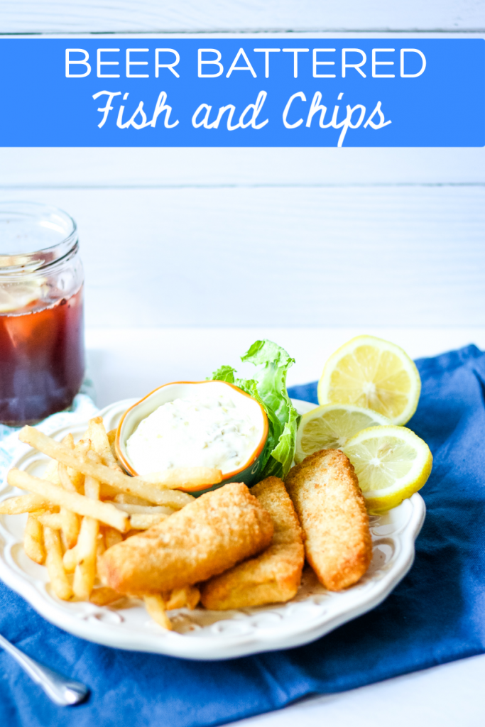 Homemade Beer Battered Fish and Chips PIN
