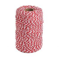 Tenn Well Red and White Twine, 656 Feet 200m Cotton Bakers Twine Perfect For Baking, Butchers, Crafts and Christmas Gift Wrapping