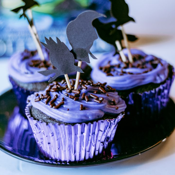 Maleficent Inspired Cupcakes