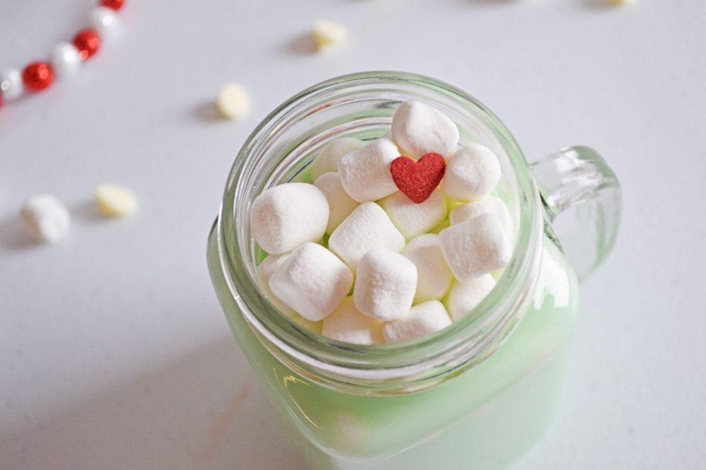 grinch white hot chocolate