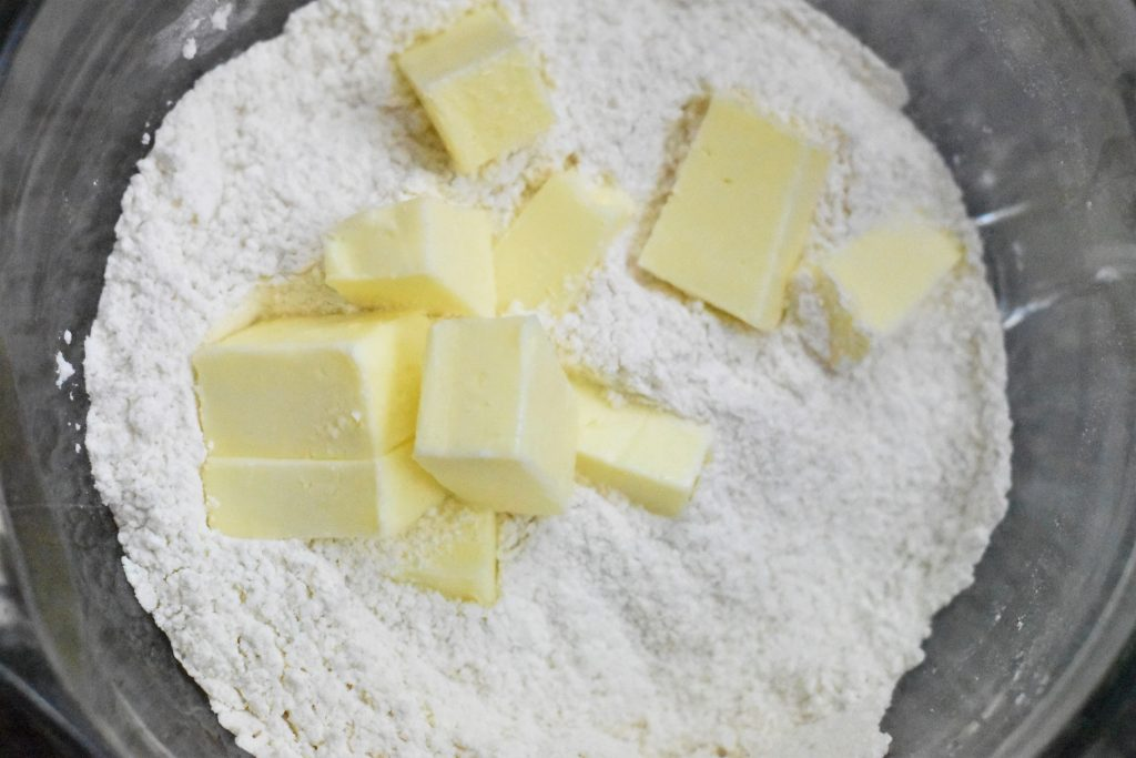 butter in flour