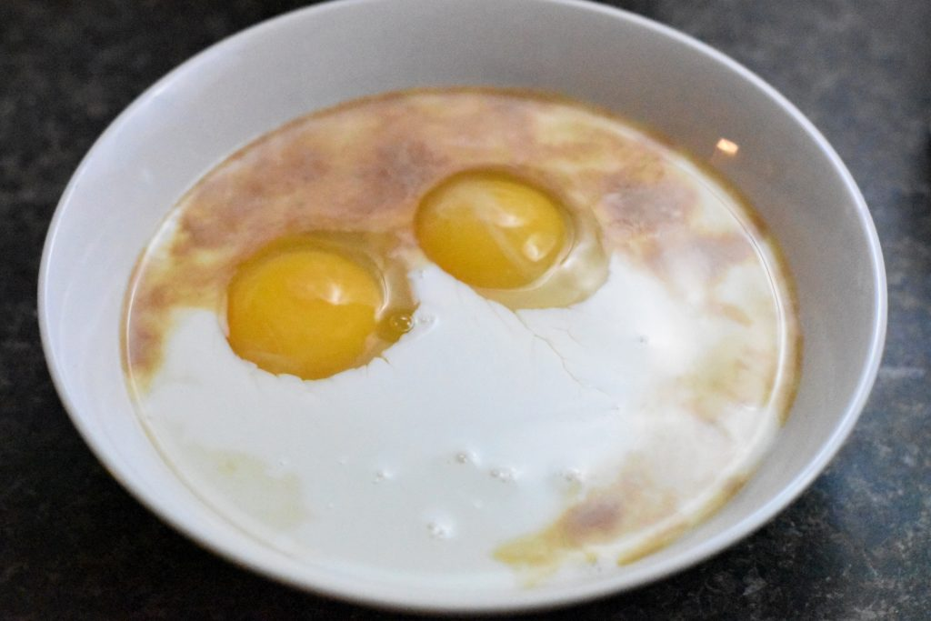 eggs in a milk