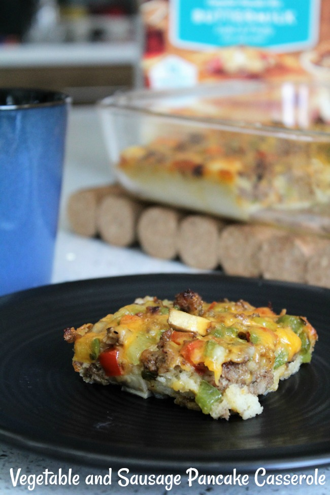 Easy Vegetable and Sausage Pancake Casserole
