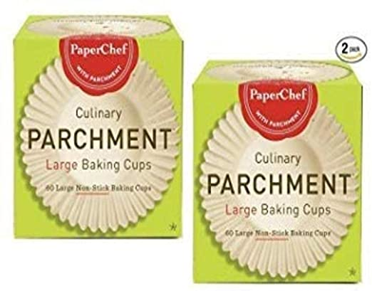(2 Pack) Standard Paper Cupcake Liners/Baking Cups, 60-ct/Box