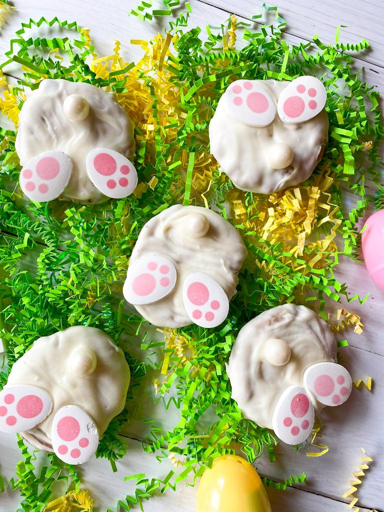 easter bunny tail cookies