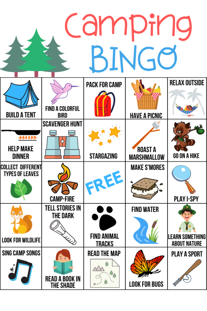 Camping Bingo Free Printable