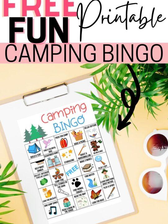 Camping Bingo Free Printable Game