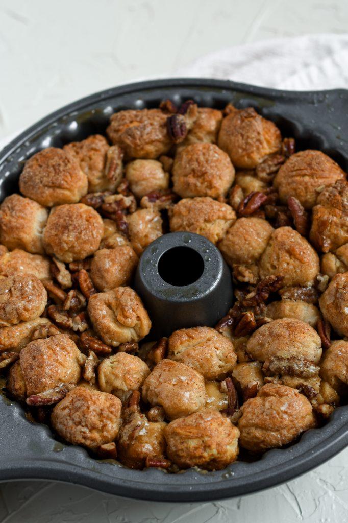 Monkey Bread in a bundt pan