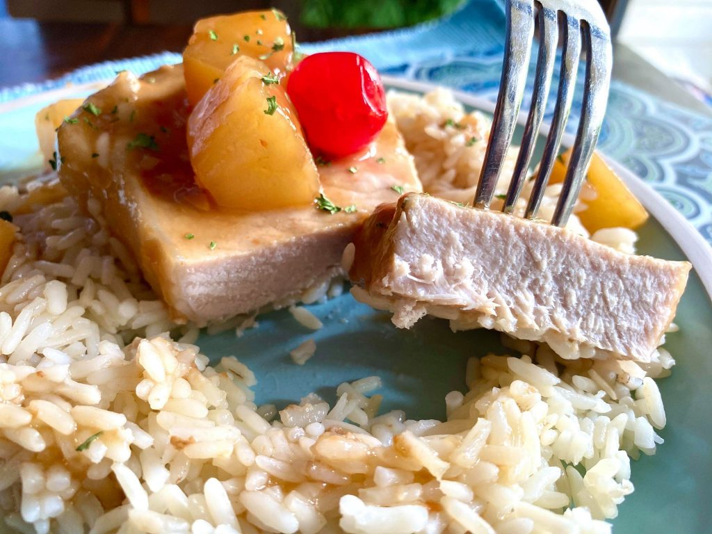 slow cooker hawaiian pork chops
