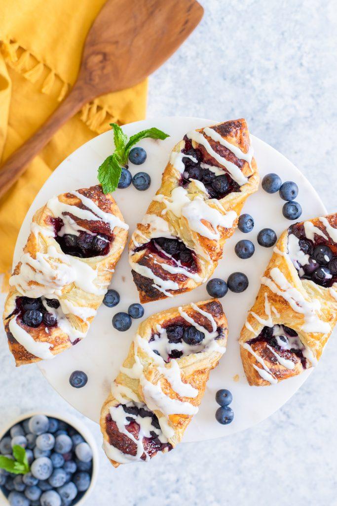 lemon blueberry danish