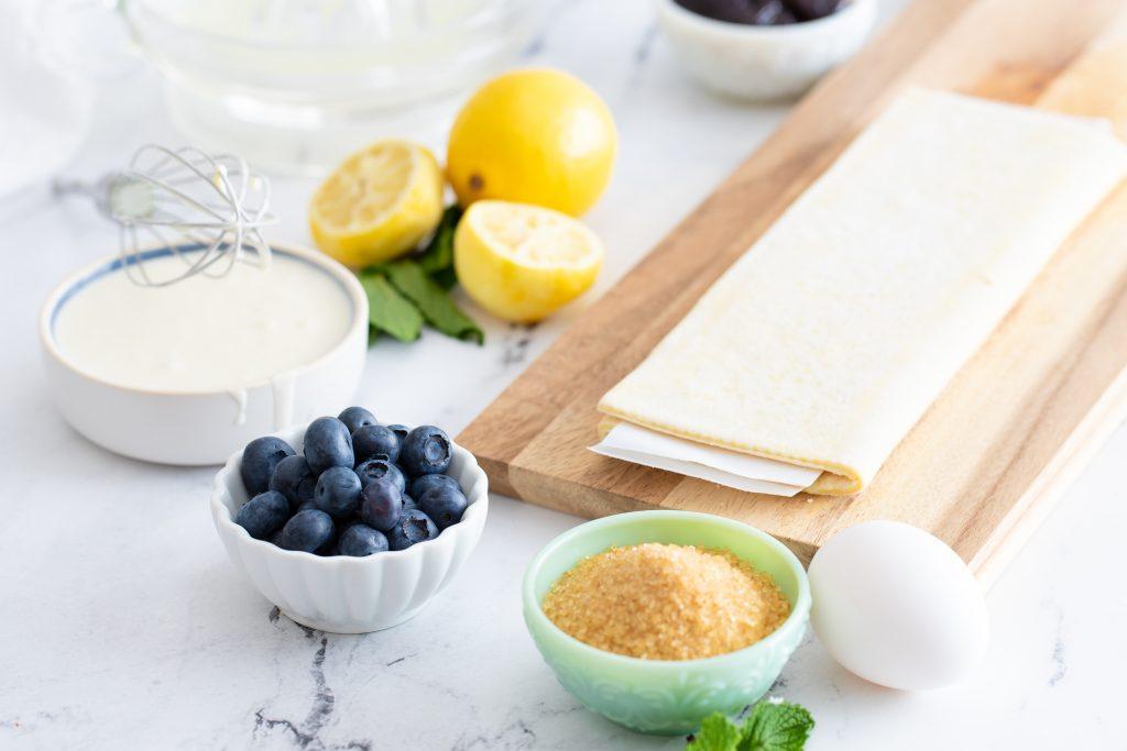Ingredients to make Lemon Blueberry Danish