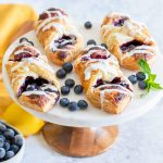 Lemon Blueberry Danish with Cream Cheese Icing Recipe