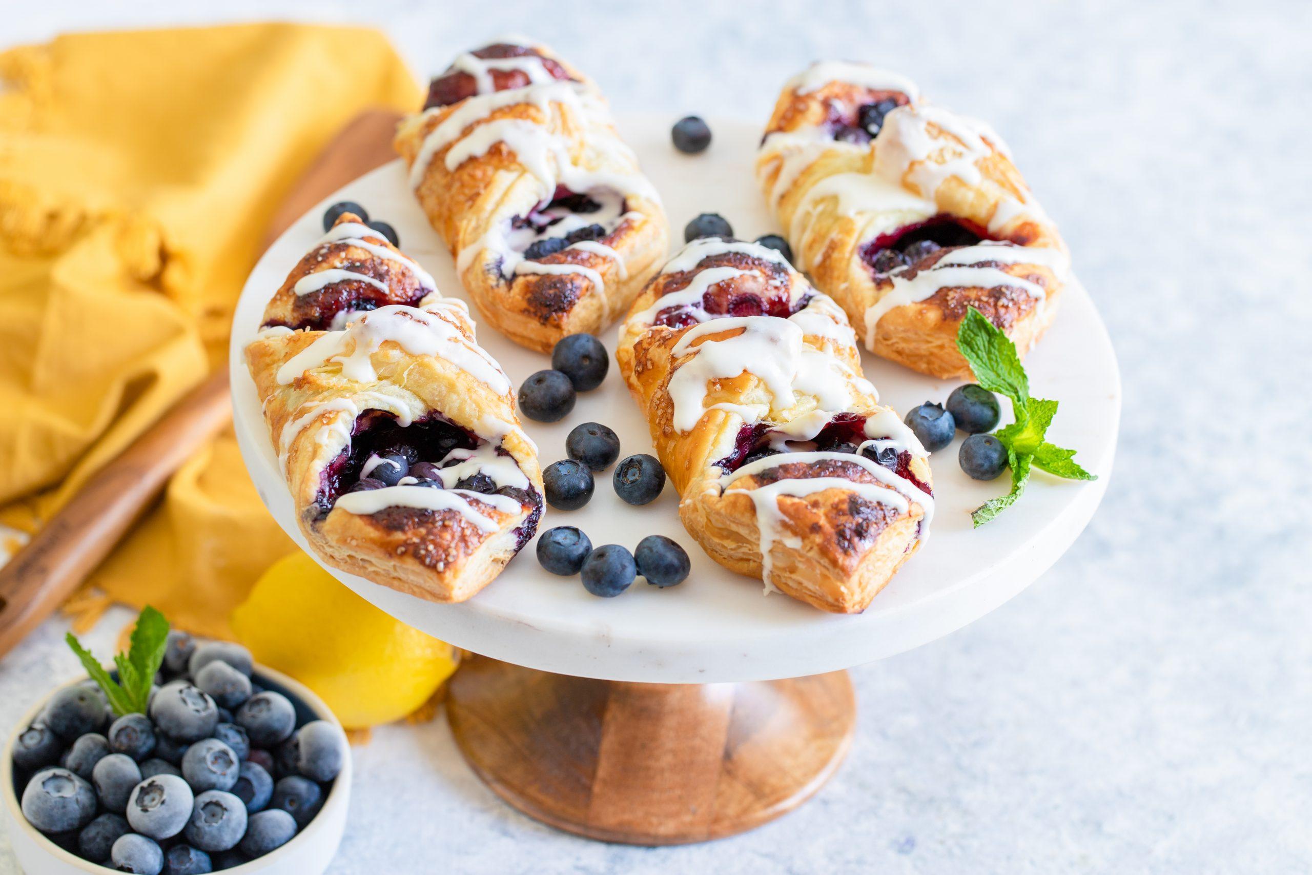 Lemon Blueberry Danish with Cream Cheese Icing Recipe