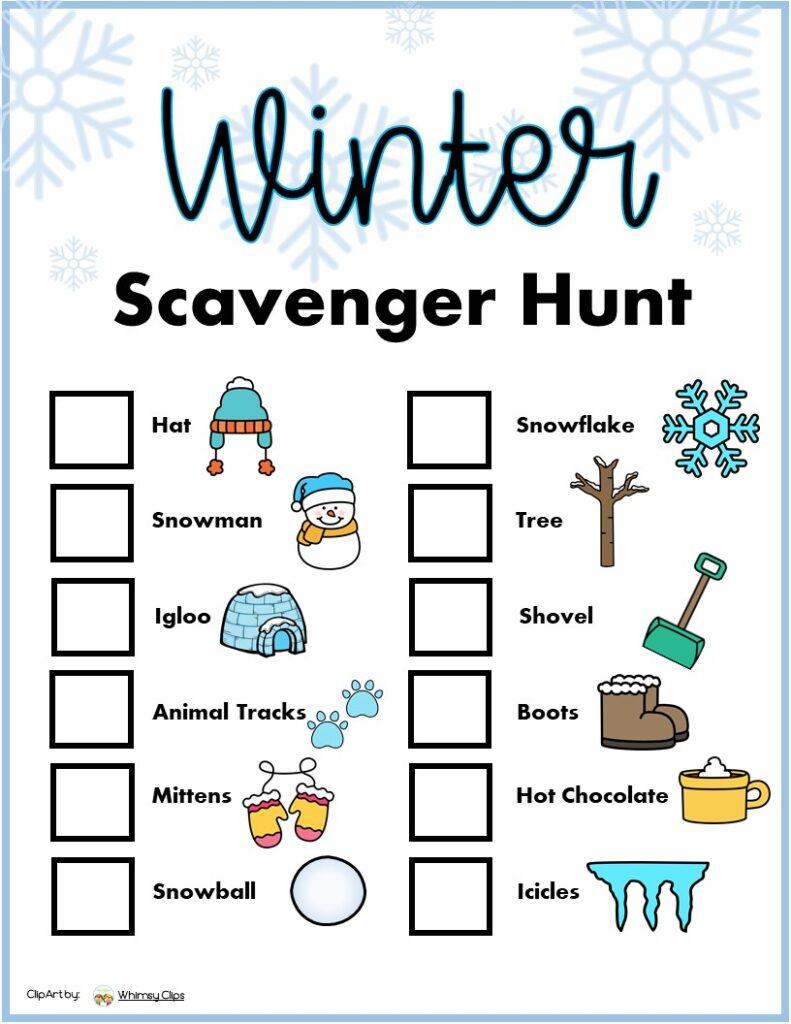 Winter scavenger Hunt