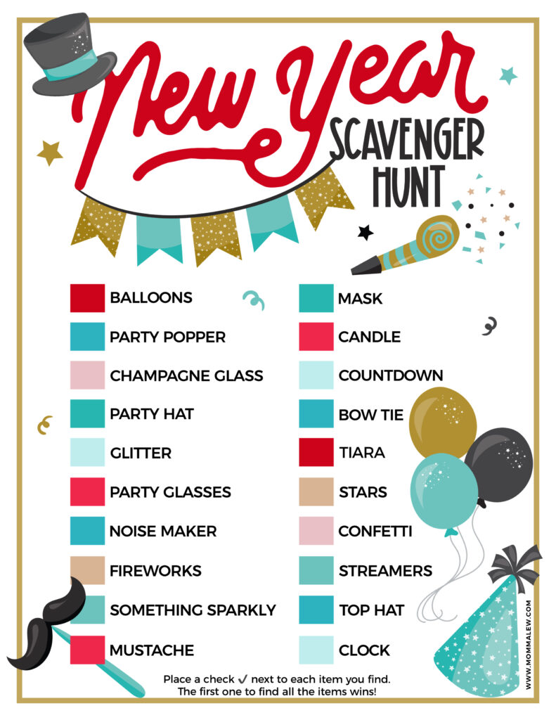 new years scavenger hunt