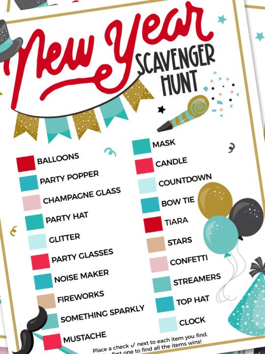 FREE PRINTABLE – New Year's Scavenger Hunt