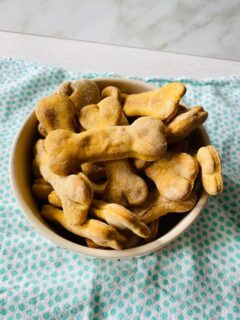 sweet potato peanut butter dog treats