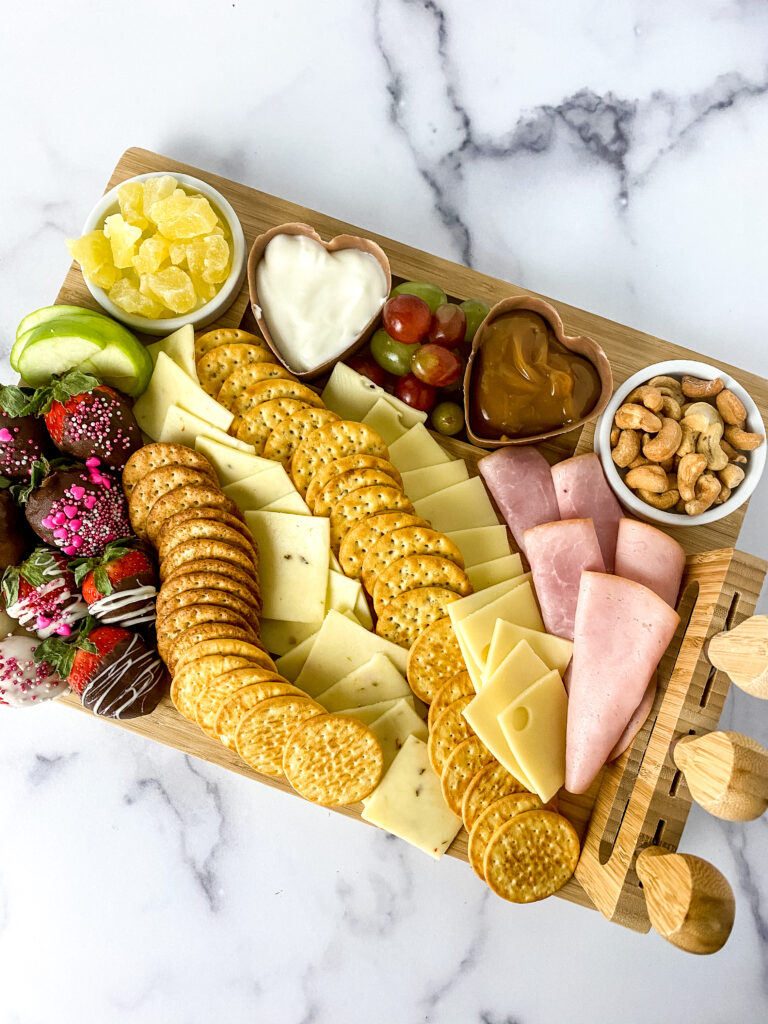 valentine snack board