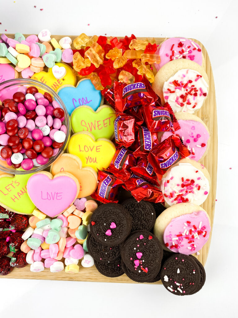 valentines charcuterie board