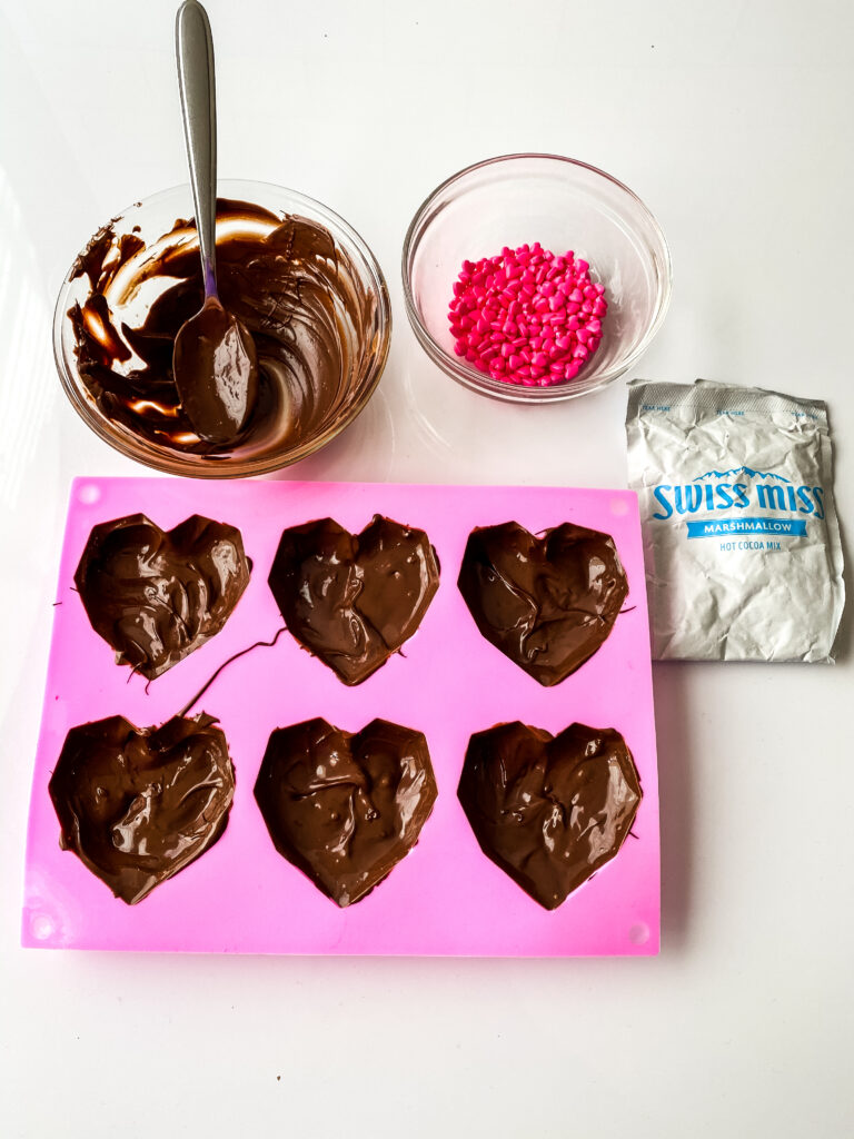 valentines hot cocoa bombs