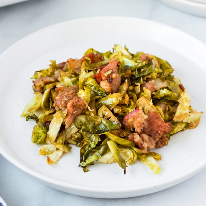 Roasted Shredded Brussel Sprouts with Bacon-5