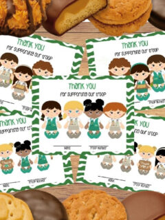 girl scout thank you cards