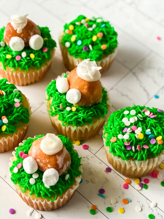 Easter Bunny Cupcakes Tutorial