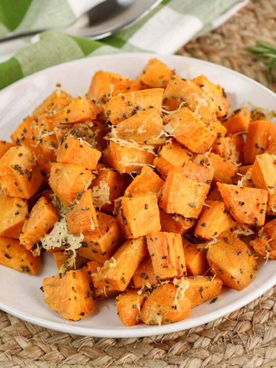 Parmesan and Rosemary Roasted Sweet Potatoes