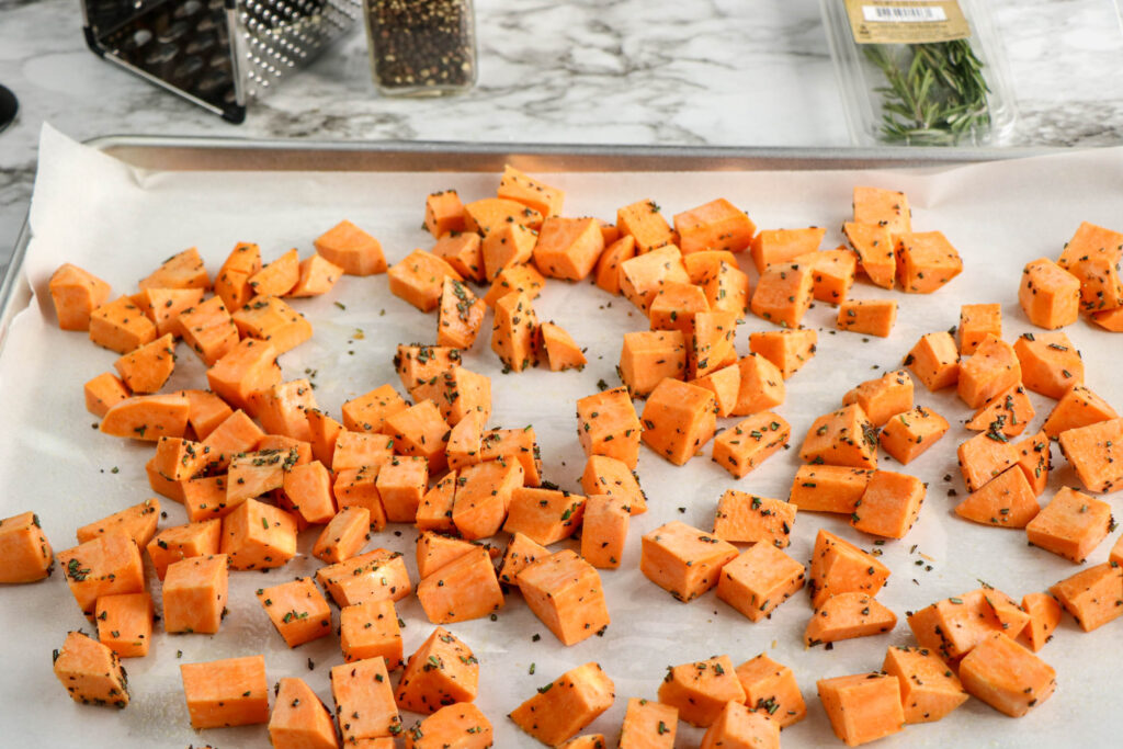 Rosemary Parmesan Sweet Potatoes-5