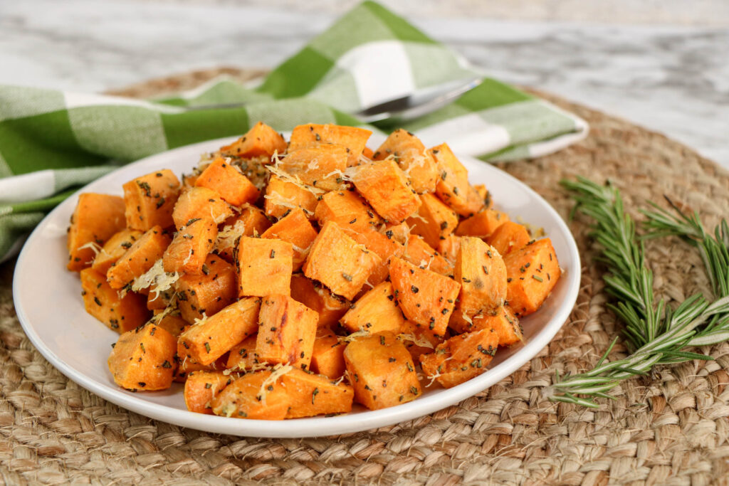 Rosemary Parmesan Sweet Potatoes