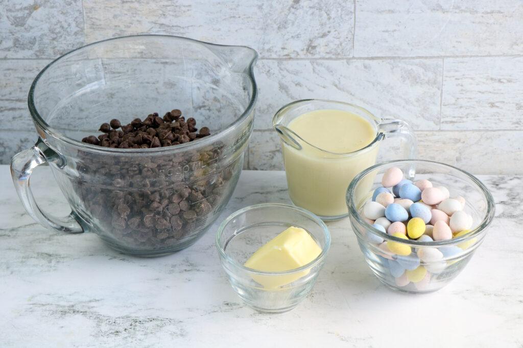 easter egg fudge ingredients